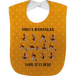 Yoga Dogs Sun Salutations Baby Bib (Personalized)