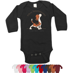 Yoga Dogs Sun Salutations Bodysuit - Long Sleeves - 0-3 months (Personalized)