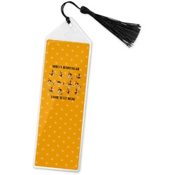 Yoga Dogs Sun Salutations Book Mark w/Tassel (Personalized)