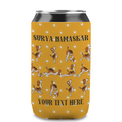 Yoga Dogs Sun Salutations Can Sleeve (12 oz) (Personalized)