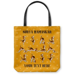 Yoga Dogs Sun Salutations Canvas Tote Bag (Personalized)