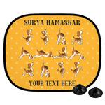 Yoga Dogs Sun Salutations Car Side Window Sun Shade (Personalized)