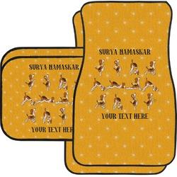 Yoga Dogs Sun Salutations Car Floor Mats (Personalized)