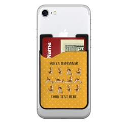 Yoga Dogs Sun Salutations Cell Phone Credit Card Holder (Personalized)