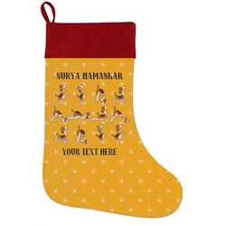 Yoga Dogs Sun Salutations Holiday Stocking w/ Name or Text