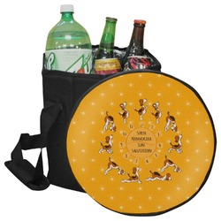 Yoga Dogs Sun Salutations Collapsible Cooler & Seat (Personalized)