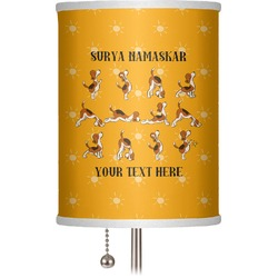"Yoga Dogs Sun Salutations 7"" Drum Lamp Shade (Personalized)"