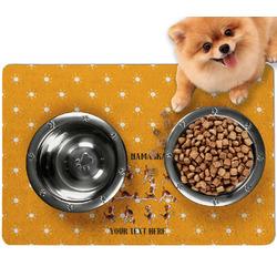 Yoga Dogs Sun Salutations Dog Food Mat - Small w/ Name or Text