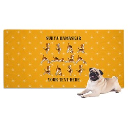 Yoga Dogs Sun Salutations Dog Towel (Personalized)