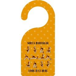 Yoga Dogs Sun Salutations Door Hanger (Personalized)