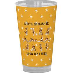 Yoga Dogs Sun Salutations Drinking / Pint Glass (Personalized)