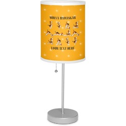 """Yoga Dogs Sun Salutations 7"""" Drum Lamp with Shade (Personalized)"""