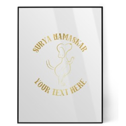 Yoga Dogs Sun Salutations Foil Print (Personalized)