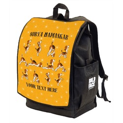 Yoga Dogs Sun Salutations Backpack w/ Front Flap  (Personalized)
