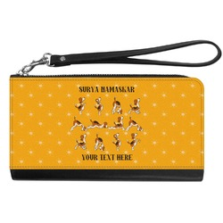 Yoga Dogs Sun Salutations Genuine Leather Smartphone Wrist Wallet (Personalized)