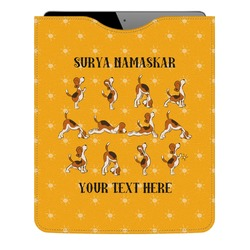 Yoga Dogs Sun Salutations Genuine Leather iPad Sleeve (Personalized)
