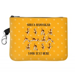 Yoga Dogs Sun Salutations Golf Accessories Bag (Personalized)