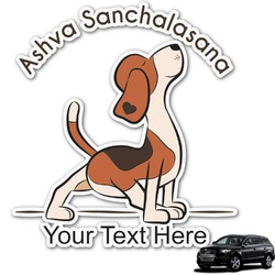 Yoga Dogs Sun Salutations Graphic Car Decal (Personalized)