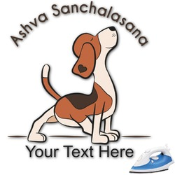 Yoga Dogs Sun Salutations Graphic Iron On Transfer (Personalized)