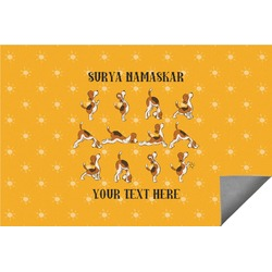 Yoga Dogs Sun Salutations Indoor / Outdoor Rug (Personalized)