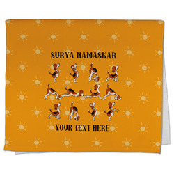 Yoga Dogs Sun Salutations Kitchen Towel - Full Print (Personalized)