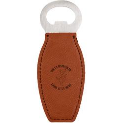 Yoga Dogs Sun Salutations Leatherette Bottle Opener (Personalized)