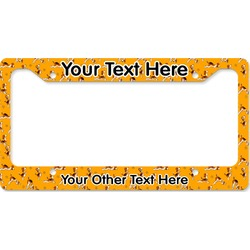 Yoga Dogs Sun Salutations License Plate Frame (Personalized)