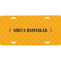 Yoga Dogs Sun Salutations Front License Plate (Personalized)