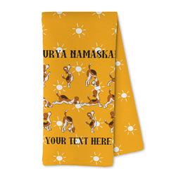 Yoga Dogs Sun Salutations Microfiber Kitchen Towel (Personalized)