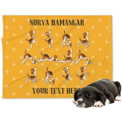 Yoga Dogs Sun Salutations Dog Blanket (Personalized)