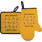 Yoga Dogs Sun Salutations Oven Mitt & Pot Holder (Personalized)