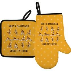 Yoga Dogs Sun Salutations Oven Mitt & Pot Holder (Personalized)