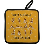 Yoga Dogs Sun Salutations Pot Holder (Personalized)