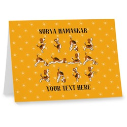 Yoga Dogs Sun Salutations Note cards (Personalized)