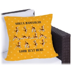 Yoga Dogs Sun Salutations Outdoor Pillow (Personalized)