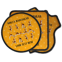 Yoga Dogs Sun Salutations Iron on Patches (Personalized)