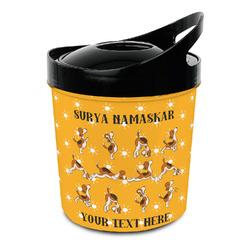 Yoga Dogs Sun Salutations Plastic Ice Bucket (Personalized)