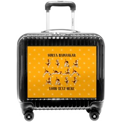 Yoga Dogs Sun Salutations Pilot / Flight Suitcase (Personalized)