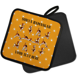 Yoga Dogs Sun Salutations Pot Holder w/ Name or Text