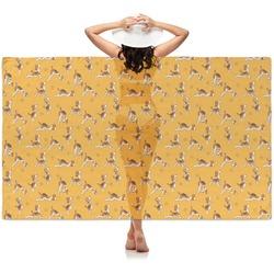 Yoga Dogs Sun Salutations Sheer Sarong (Personalized)