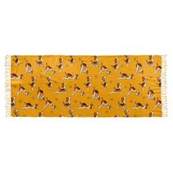 Yoga Dogs Sun Salutations Faux Pashmina Scarf (Personalized)