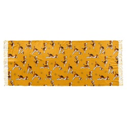 Yoga Dogs Sun Salutations Faux Pashmina Scarf (Personalized)