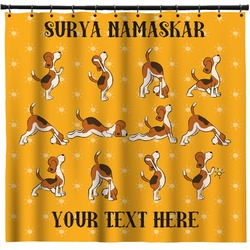 Yoga Dogs Sun Salutations Shower Curtain (Personalized)