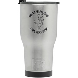 Yoga Dogs Sun Salutations RTIC Tumbler - Silver - Engraved Front (Personalized)