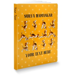 Yoga Dogs Sun Salutations Softbound Notebook (Personalized)