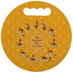 Yoga Dogs Sun Salutations Stadium Cushion (Round) (Personalized)
