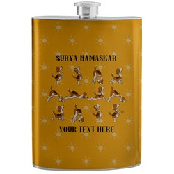 Yoga Dogs Sun Salutations Stainless Steel Flask (Personalized)