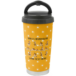 Yoga Dogs Sun Salutations Stainless Steel Coffee Tumbler (Personalized)