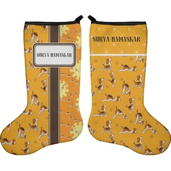Yoga Dogs Sun Salutations Holiday Stocking - Double-Sided - Neoprene (Personalized)