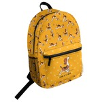 Yoga Dogs Sun Salutations Student Backpack (Personalized)